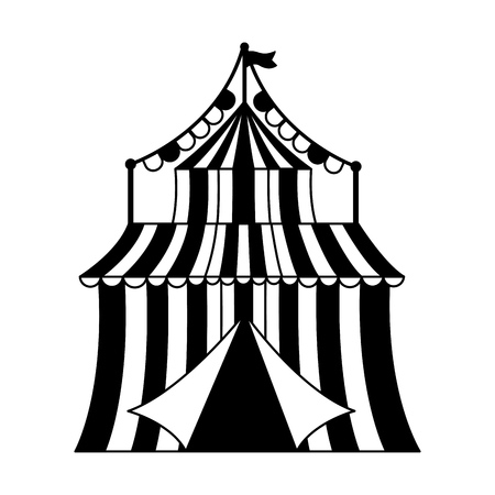carnival tent circus garland vector illustration design