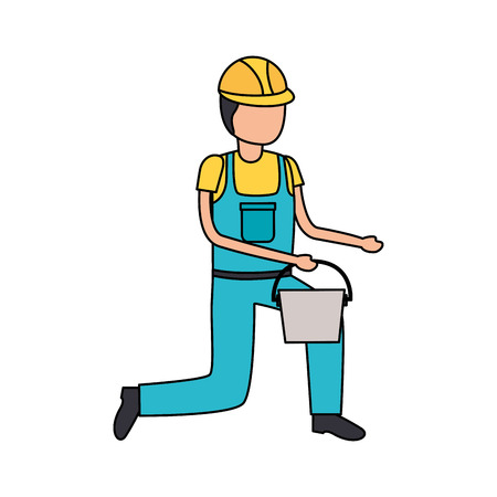 worker construction tool repair bucket vector illustration design Иллюстрация
