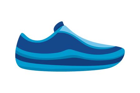 sport sneaker wear on white background vector illustration