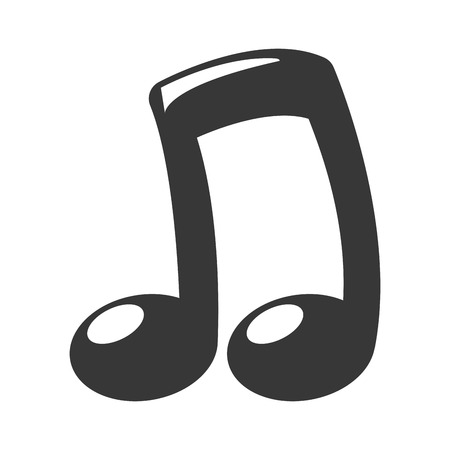 note musical icon on white background vector illustration Ilustrace
