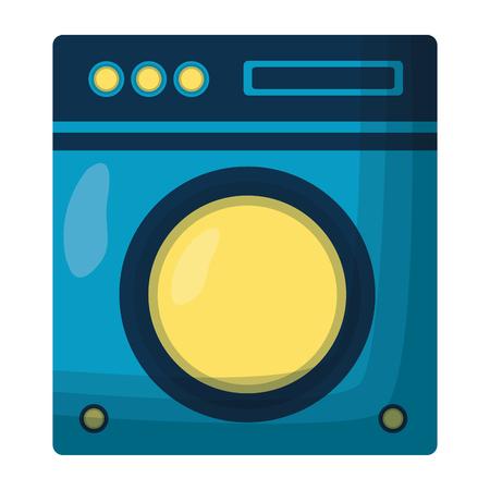wasmachine apparaat voorjaarsschoonmaak vectorillustratie Vector Illustratie