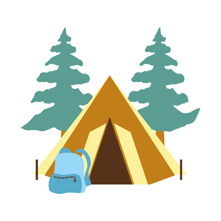 camping tent isolated icon vector illustration design Illustration