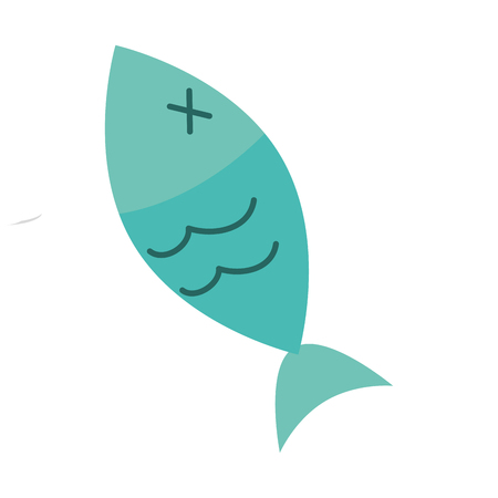 dead fish isolated icon vector illustration design