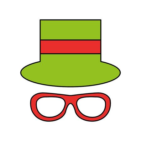 funny hat party isolated icon vector illustration design Illusztráció