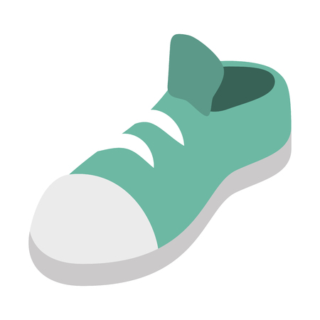 green sneaker sport on white background vector illustration Çizim