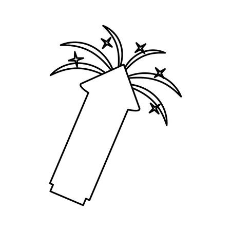 Diseño de ilustración de vector de icono de cohete de fuegos artificiales aislados Ilustración de vector