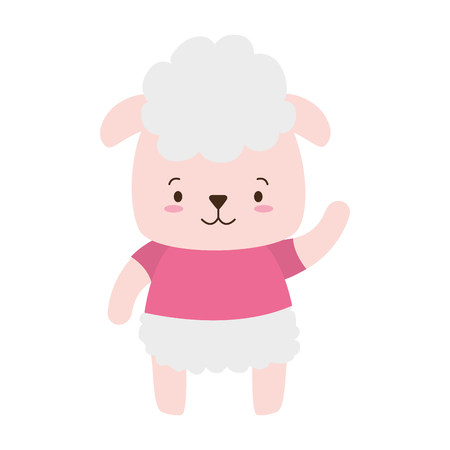 cute sheep animal cartoon vector illustration design Stock fotó - 121625713