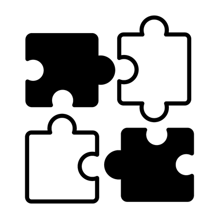 puzzles jigsaw pieces on white background vector illustration