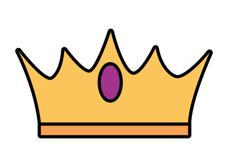 crown luxury icon on white background vector illustration Banque d'images - 122919304