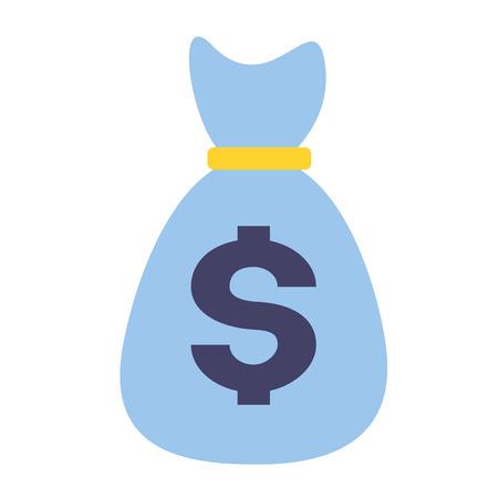 money bag dollar currency vector illustration design