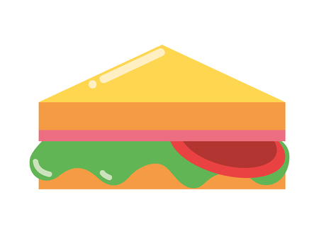 sandwich fast food white background vector illustration