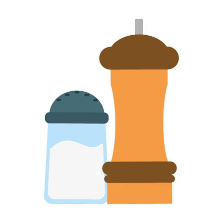 kitchen salt and pepper outline vector illustration