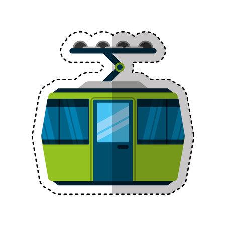 Transporte por cable aislado icono de ilustración vectorial de diseño