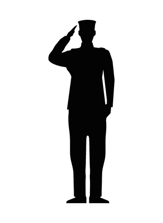military man silhouette icon vector illustration design Ilustracja