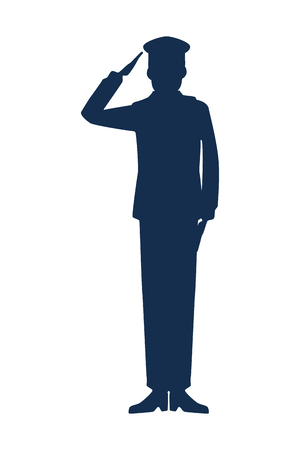 military man silhouette icon vector illustration design Ilustração