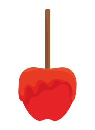 candy apple sweet icon vector illustration design