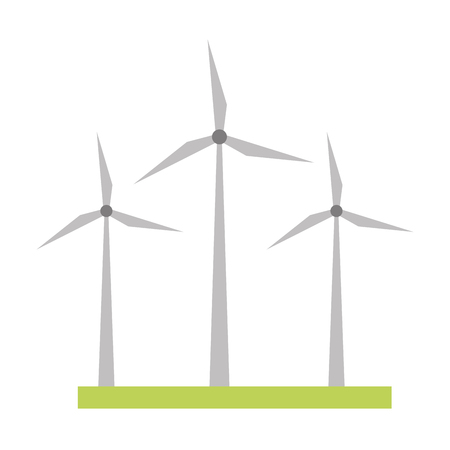 wind turbines energy renewable vector illustration design 向量圖像