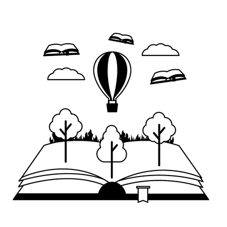 world book day literature adventure vector illustration Иллюстрация