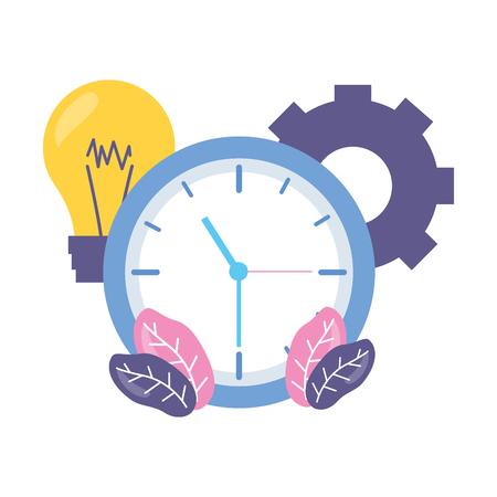 work clock time bulb gear Stock Vector - 122872864
