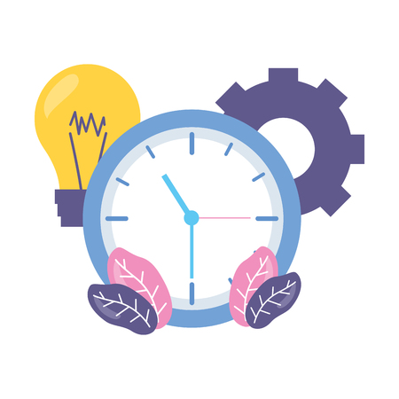 work clock time bulb gear Stock Vector - 122872866