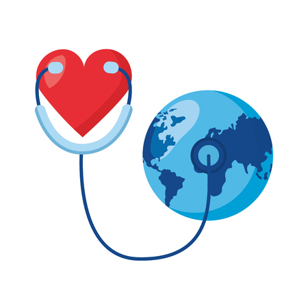 heart stethoscope world health day vector illustration 向量圖像