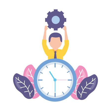 businessmen clock time on white background Stock Vector - 122872927