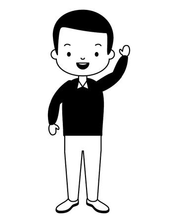 man character cartoon on white background vector illustration design Illustration