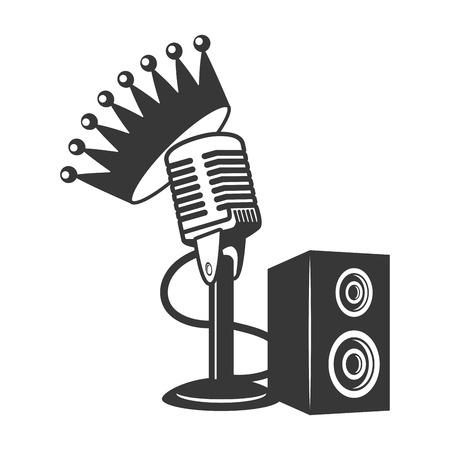 microphone and speakers karaoke vector illustration design vector illustration