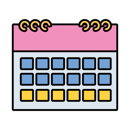calendar reminder plan on white background vector illustration vector illustration Ilustrace