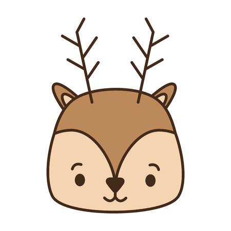 cute deer animal cartoon vector illustration design image Stock Vector - 122873202