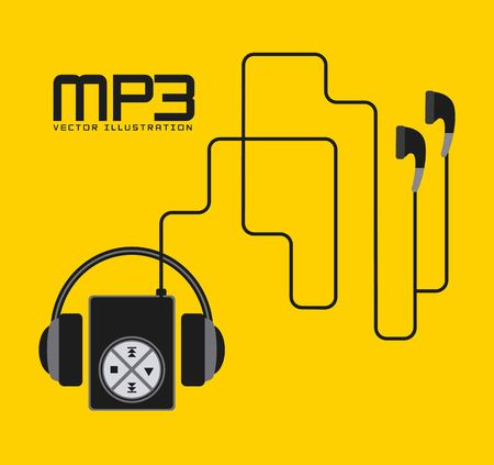 mp3 music player design, vector illustration eps10 graphic 向量圖像