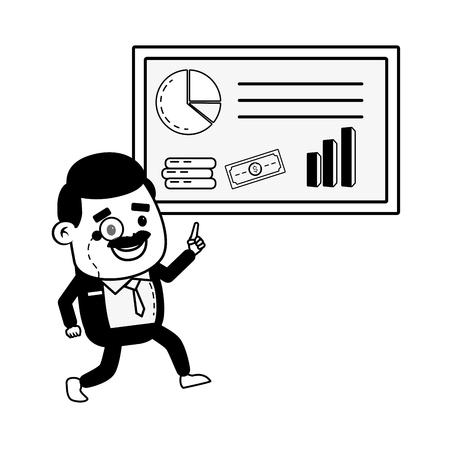 businessman report business online banking vector illustration Stockfoto - 122873274