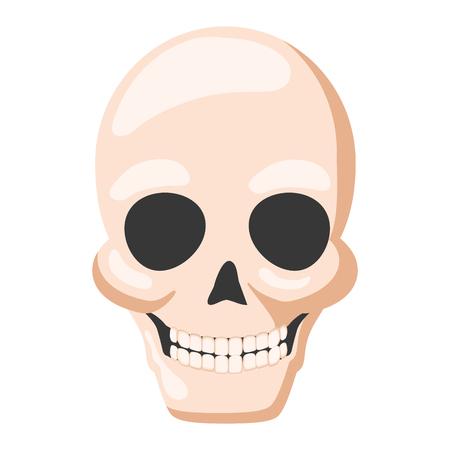 death skull icon white background vector illustration Illustration