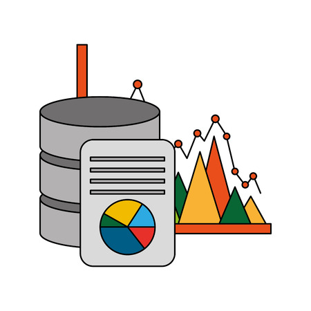 data center disks with infographic vector illustration design