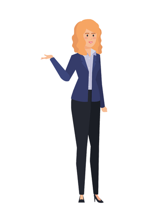 elegant businesswoman avatar character vector illustration design Illustration