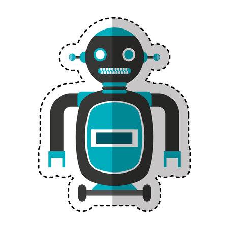 electric robot avatar character vector illustration design Foto de archivo - 122873795