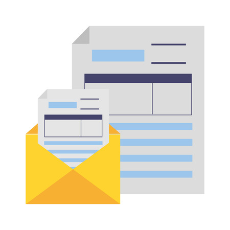 tax payment document mail paper vector illustration Standard-Bild - 122873829