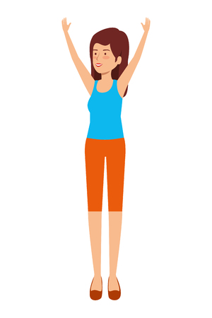 cute girl practicing exercice vector illustration design Stock Vector - 121691845