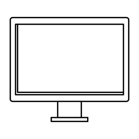computer desktop monitor icon vector illustration design 向量圖像