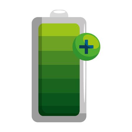 poziom energii baterii ikona wektor ilustracja projekt