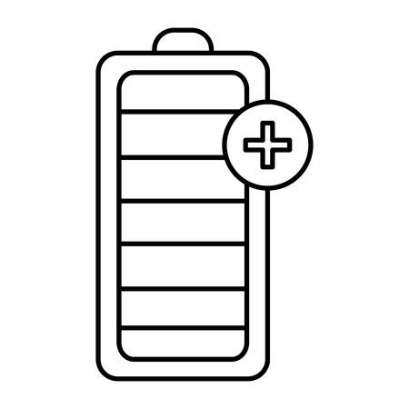 Diseño del ejemplo del vector del icono del nivel de energía de la batería Ilustración de vector