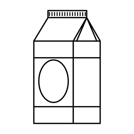 milk box healthy icon vector illustration design
