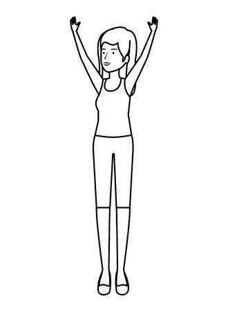 cute girl practicing exercice vector illustration design Stock Vector - 121706652