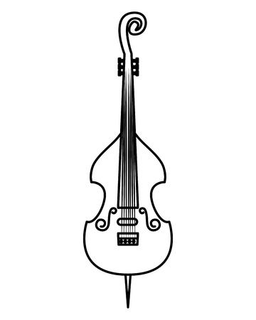 cello musical instrument icon vector illustration design Иллюстрация