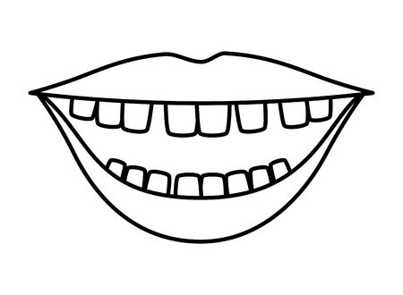 mouth with comics teeth vector illustration design Vector Illustration