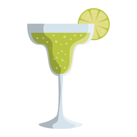 margarita cocktail fresh icon vector illustration design