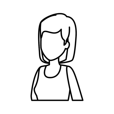 beautiful young woman character vector illustration design