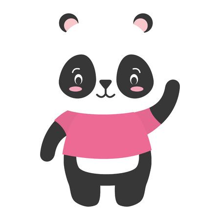 cute panda animal cartoon vector illustration design Standard-Bild - 122874292