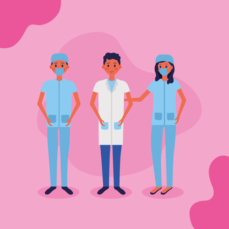 medical people staff female doctor surgeon health vector illustration Illustration