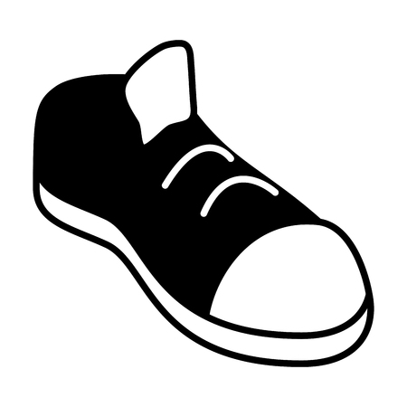 sneaker sport black and white vector illustration Stok Fotoğraf - 122832646